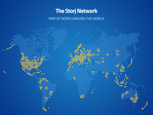 Map of Storj Nodes